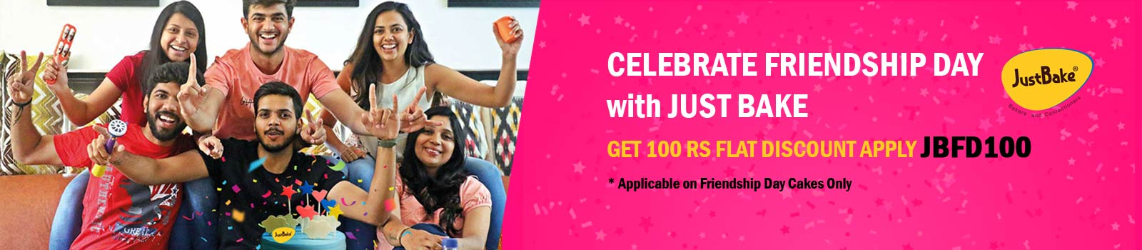 Get 100 Rs Flat Discount On Bangalore Friendship Day Cakes