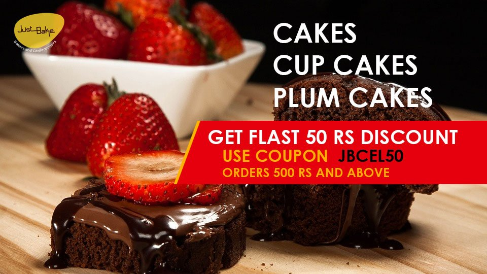 Just Bake 50rs Flat Discount