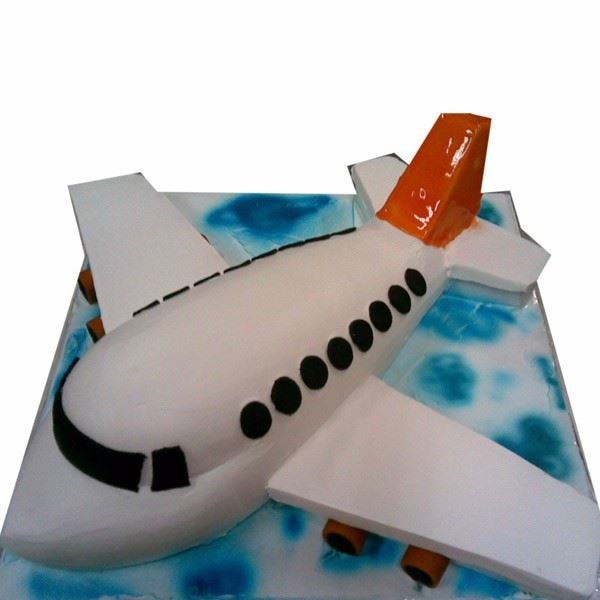 Aeroplane Cream Finish 3D Cake