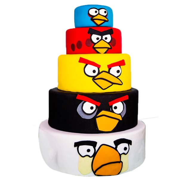 Angry Bird Theme Cake 02 multitier