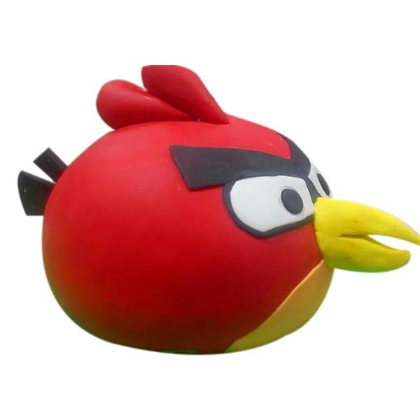 Angry Bird Red 3D Face Cake