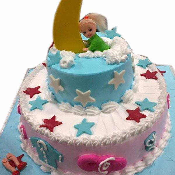 Baby On Moon Creamfondant In Bangalore Buy Cakes Online In