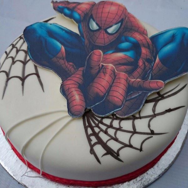 CH Spiderman Cream Cake