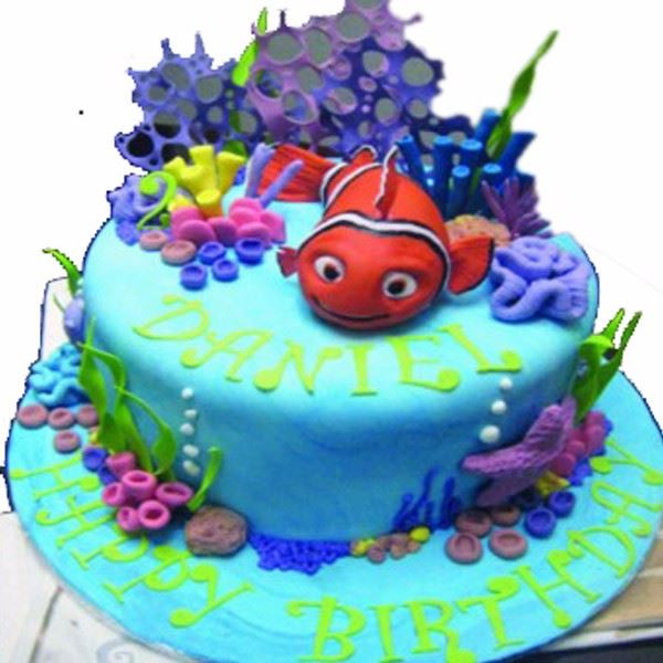 Nemo in Ocean Cream Fondant Cake