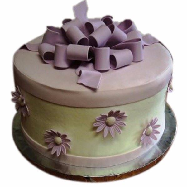 Purple Box Cream Fondant Cake