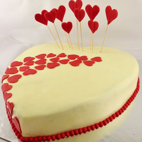 Sprinkled Valentines Love Cake