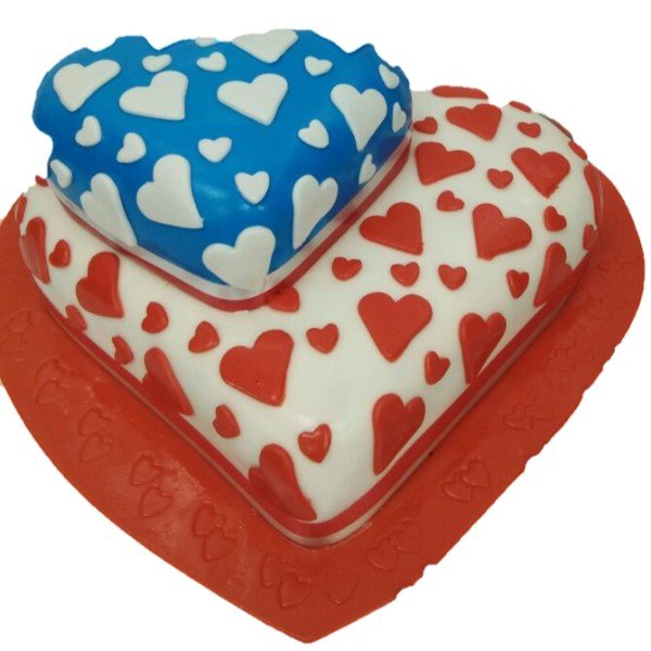 Valentines Day Cake 07 Cream_Fondant