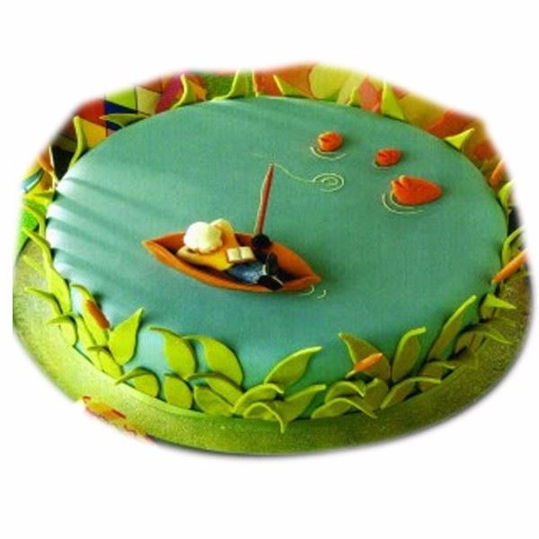 Week end Fishing Cream_Fondant Cake