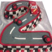 3D Number2 Pit Stop Cake