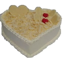 Heart Shape Valentines Day Cake White