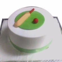 Bat Ball Cream_Fondant Cake