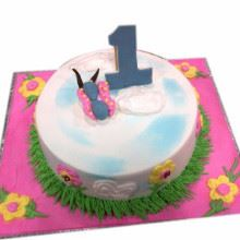 Butterfly Flowers Cake Cream_Fondant