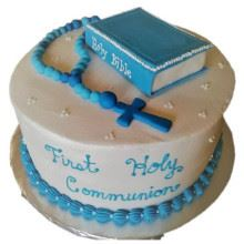 Communion Cake 07 2Kg Cream Fondant