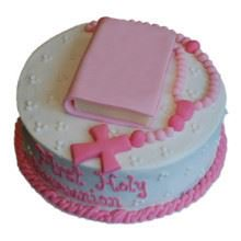 Communion Cake-08-2Kg Cream_Fondant