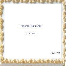 Cream Finish Impression Cake Upload Your Photo
