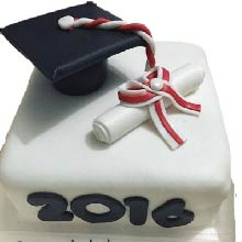 Degree Theme Fondant Cake-06
