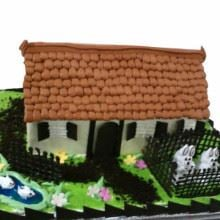 Farm House Cream_Fondant Cake