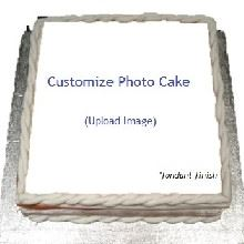 Fondant Finish Impression Cake Upload Your Photo
