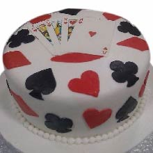 Game of Cards Fondant Cake