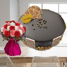 German Divinity 1Kg Cake with Carnations Carnival