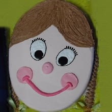 Girl with Braids Cake