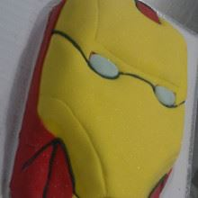 Iron man Face Fondant Cake