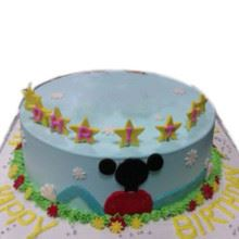 Mickey Club House Cream_Fondant Cake