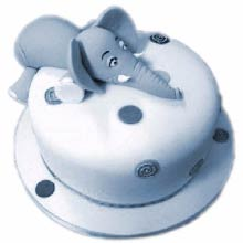 Mr.Horton Cream_Fondant Cake