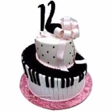 Musical Couple Cake Cream Fondant