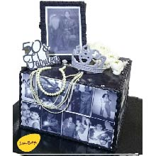 Wedding Theme Photo Collage Cake WC23