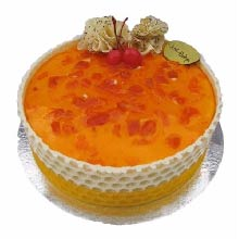 Peach and Apricot Gateaux 1Kg Cake