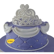 Sofia Theme Cake Fondant Finish