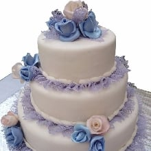 Purple and White Cake Fondant