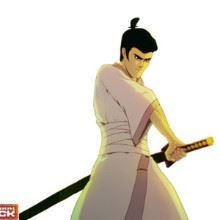 Samurai Jack Photo Cake