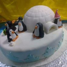 Small Igloo Fondant Cake