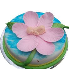 Thumbelina On Flower Cake