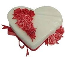 Heart Shape Valentines Day Cake  RW