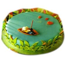 Week end Fishing Cake Cream_Fondant